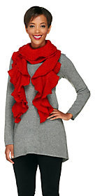 Collection XIIX As Is Collection 18 Lurex Ruffled Knit Scarf