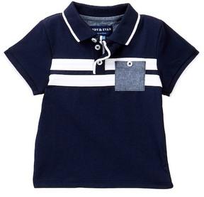 Andy & Evan Striped Polo Shirt (Baby Boys)