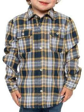 Dex Little Boy's Plaid Cotton Collared Shirt
