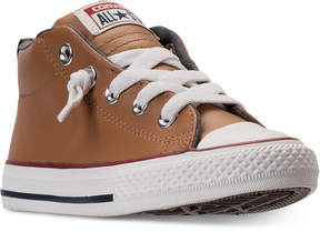 Converse Little Boys' Chuck Taylor Street Leather High Top Casual Sneakers from Finish Line