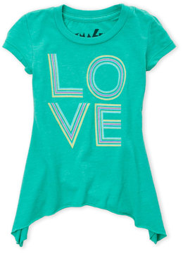 Chaser Toddler Girls) Asymmetrical Love Graphic Tee