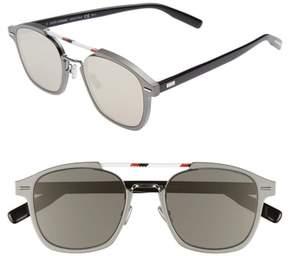 Christian Dior Men's Al13.13 52Mm Sunglasses - Ruthenium/ Ivory