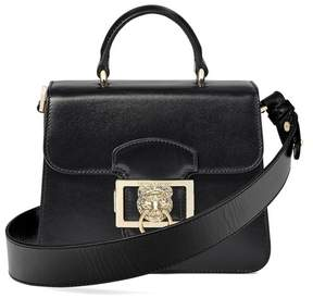 Aspinal of London Small Lion Lansdowne Bag In Smooth Black