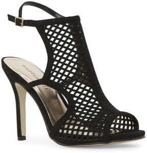 Madden-Girl Black Regalll Laser-Cut High Heel Sandals
