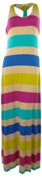 Calvin Klein Women's Striped Scoop Neck Racerback Maxi Dress (2, Multi)
