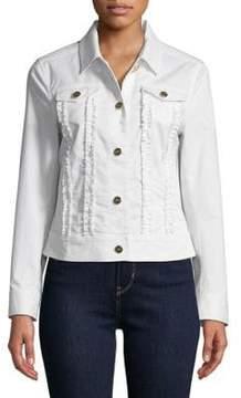 Isaac Mizrahi IMNYC Ruffled Denim Jacket