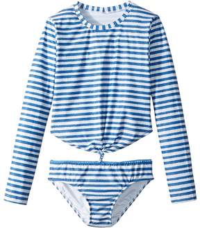 Seafolly Sapphire Coast Knot Front Surf Set Girl's Swimwear Sets