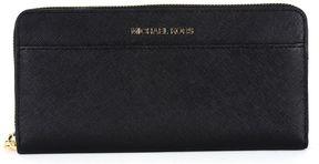 MICHAEL Michael Kors Continental Jet Wallet Set In Black Saffron Leather - BLACK - STYLE