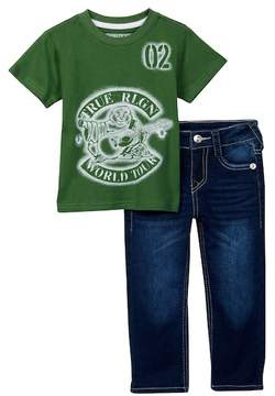 True Religion TR World Tee & Jeans Set (Toddler Boys)