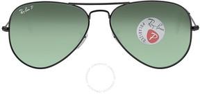 Ray-Ban Aviator Green Polarized Lens 58mm Men's Sunglasses