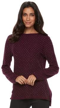Elle Women's ElleTM Textured Embellished Sweater