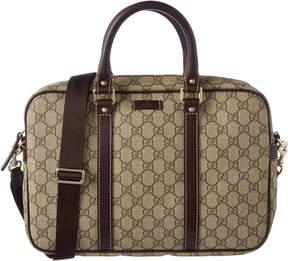 Gucci Gg Supreme Canvas & Leather Briefcase