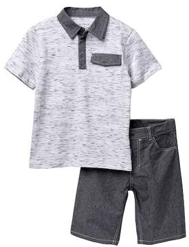 Calvin Klein Polo Shirt & Shorts Set (Big Boys)