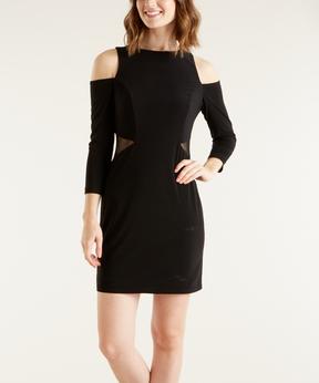 Bebe Black Cutout Sheath Dress