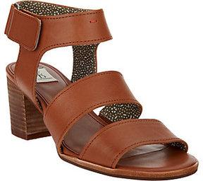 ED Ellen Degeneres As Is Triple Strap Leather Sandals - Tahni