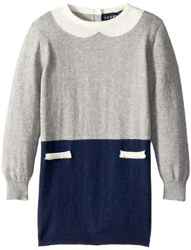 Toobydoo The Olive Faux Collar Sweater Dress Girl's Dress