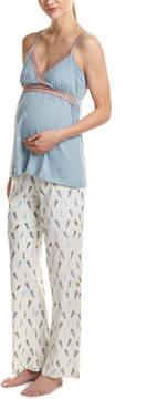 Belabumbum Maternity Plume 2Pc Pajama Set