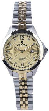 Croton N/A Mens Silver Tone Bracelet Watch-Cn307576ssmp