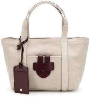 Tila March mini leather trim tote