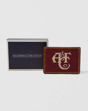 Abercrombie & Fitch Smathers & Branson Logo Needlepoint Card Wallet