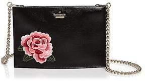 Kate Spade Huntington Court Sima Mini Leather Crossbody - BLACK ROSE/GOLD - STYLE