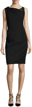 Ava & Aiden Women's Asymmetrical Neckline Sheath Dress