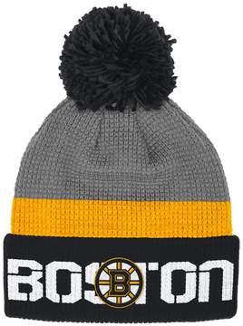 Reebok Adult Boston Bruins Cuffed Pom Knit Hat