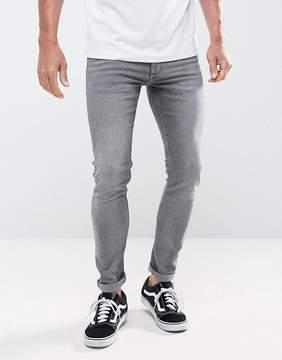 MANGO Man Skinny Jeans In Gray