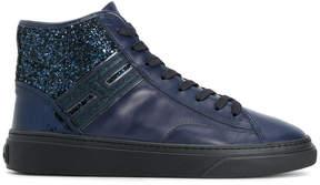 Hogan glitter detail hi-top sneakers