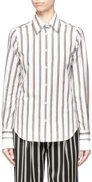 Aalto Detachable collar double sleeves stripe shirt