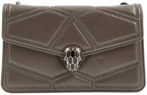 Bulgari Serpenti Grey Leather Handbag