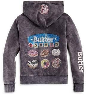 Butter Shoes Girls' I Love Donuts Zip-Up Hoodie, Big Kid - 100% Exclusive