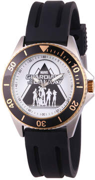 Marvel Guardian Of The Galaxy Mens Black Strap Watch-Wma000122