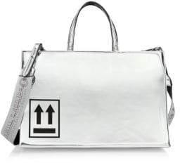 Off-White Medium Mirror Box Bag