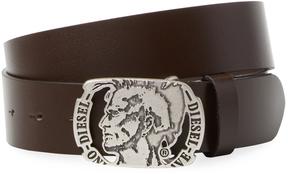Diesel Men's Buffalo Leather Solid Belt