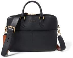 Ralph Lauren Calfskin Crossbody Briefcase Black One Size