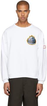 Acne Studios White Appliqués Fire Sweatshirt