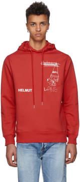 Helmut Lang Red Shayne Puppy Hoodie