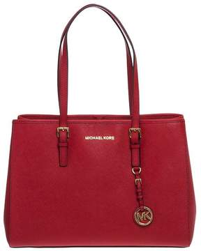 Michael Kors Jet Set Travel Saffiano Leather Tote - BRIGHT-RED - STYLE