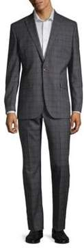 Kenneth Cole Plaid Wool Suit