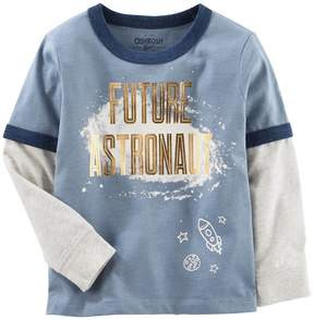 Osh Kosh Oshkosh Bgosh Toddler Boy Future Astronaut Mock-Layered Graphic Tee
