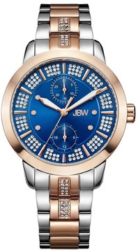JBW Lumen Blue Dial Diamond Ladies Watch