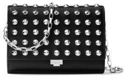 Michael Kors Yasmeen Studded Clutch - BLACK - STYLE