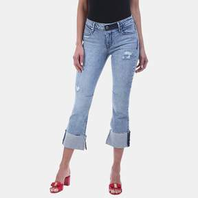 RtA Duchess Cuffed Hem High Rise Jean in Desert Blue
