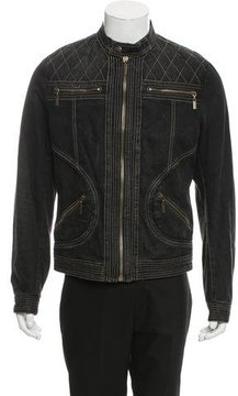 Just Cavalli Denim Moto Jacket