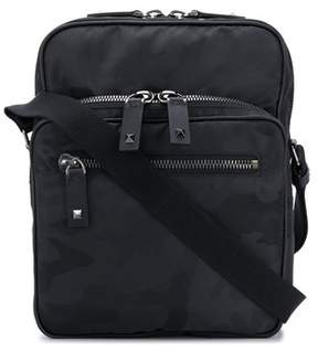 Valentino Men's Py2b0586nai0no Black Polyester Messenger Bag.