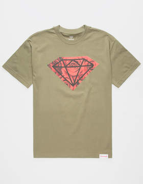 Diamond Supply Co. Rose Photo Rock Mens T-Shirt