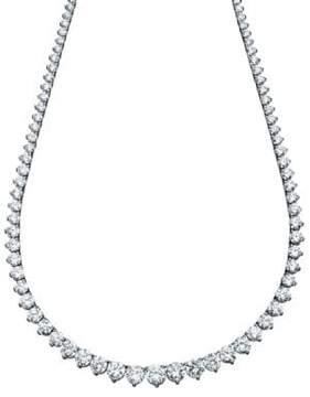 Crislu Sterling Silver and Cubic Zirconia Tennis Necklace