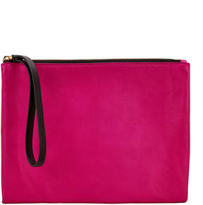 Marni Pink And Yellow Wristlet Clutch
