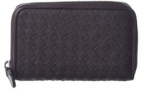Bottega Veneta Intrecciato Nappa Leather Zip Around Wallet.